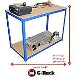 90cm extra de profundidad azul cobertizo garaje Utility estante de almacenamiento de efecto invernadero bahías de estanterías 875kg capacidad, libre bahía conectores, 5años de garantía