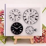 ECMQS Clock DIY Transparente Briefmarke, Silikon Stempel Set, Clear Stamps, Schneiden Schablonen,...