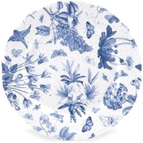 Portmeirion - Piatto da portata Botanic Blue, diametro 21cm (8.5
