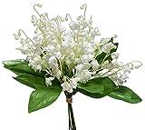 Maiglöckchen künstlich am Pick weiß grün 6 Stück = 1 Bund Dekoblume Hochzeit Tischdeko Maieriesli Convallaria majalis Glockenblumen Frühlingsdeko