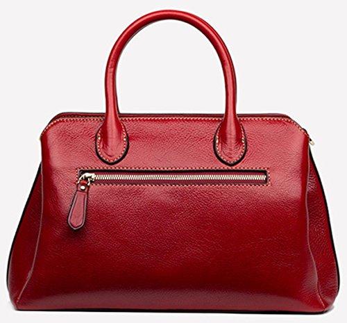 Keshi Leder neuer Stil Damen Handtaschen, Hobo-Bags, Schultertaschen, Beutel, Beuteltaschen, Trend-Bags, Velours, Veloursleder, Wildleder, Tasche Rot
