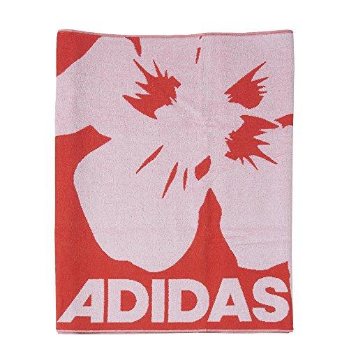 adidas Erwachsene Handtuch Beach Towel LL, Rot/Weiß, One size