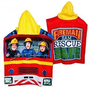 Sam Le Pompier - Fireman Sam - Enfants Poncho Poncho à capuche 50 x 115cm