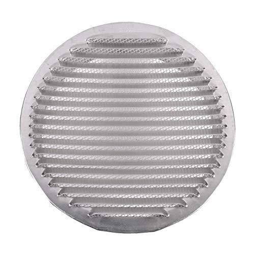Tapa de rejilla de ventilación de aluminio circular Ø 200 mm (8 'Pulgadas), rejilla de ventilación de aluminio circular 8' (200 mm), redondo, de malla de rejilla de ventilación de aluminio con ventilación de tubo de escape para campana de cocina, rejilla de escape con malla