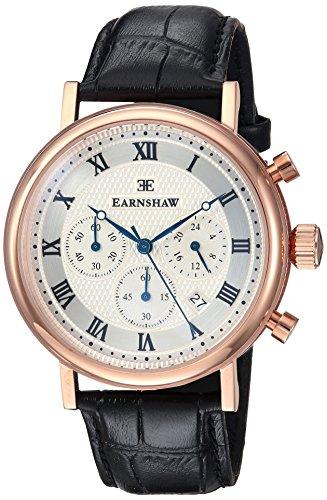 Thomas Earnshaw ES-8051-02 Orologio da Polso Cronografo da Uomo, Cinturino in Pelle, Colore Nero