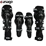 #6: Casago Universal Knee Shin Guard with Flexible Breathable Adjustable Straps Knee Pad Elbow Armor Protector for Motorcycle Motocross Racing Mountain Bike and Other Sports (4 Pieces)