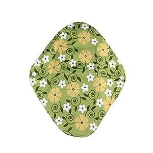 Yesiidor 1PC Bamboo Reusable Sanitary Pads Cloth Sanitary Pad Green Large