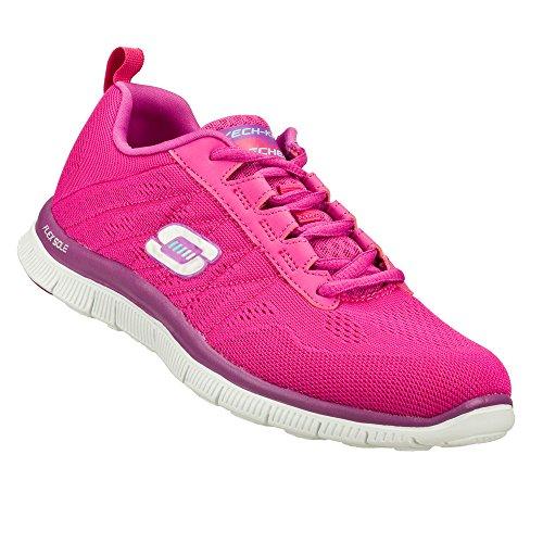 Skechers Flex Appealsweet Spot, Sneakers Basses Femme Rosa (Pink/Purple)
