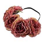 Esta corona floral de la dama de honor es magnífica para las ocasiones especiales y un accesorio hermoso de la boda. Con el diseño simplemente, elegante del genio, hace la guirnalda nupcial más pura y hermosa. Es perfecto para la novia...