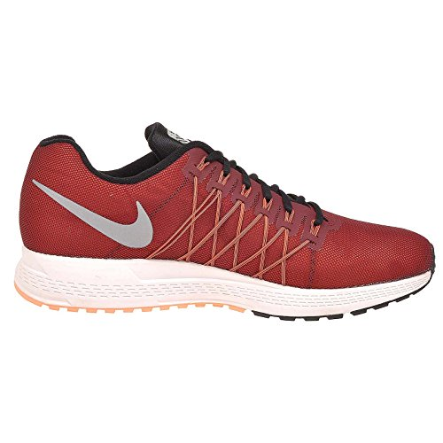Nike Air Zoom Pegasus 32 Flash, Chaussures de Running Entrainement Homme Rojo / Naranja / Plata (Team Red / Rflct Slvr-Hypr Orng)