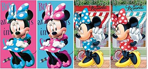 Disney Minnie Maus Handtuch 4 Stück Set 35x65cm (69331) (Minnie Maus Handtuch-set)