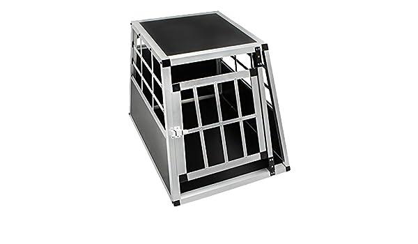 HENGMEI Cage Box Caisse de Transport de Chien Cage avec 1 Porte en Aluminium 54 x 69 x 50 cm