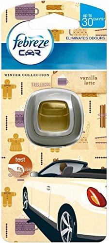 Febreze Auto Lufterfrischer Vanille - Packung mit 2 (Mandarine Vanille Duft)