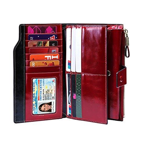 Zoom IMG-2 portafoglio donna in pelle rotezione