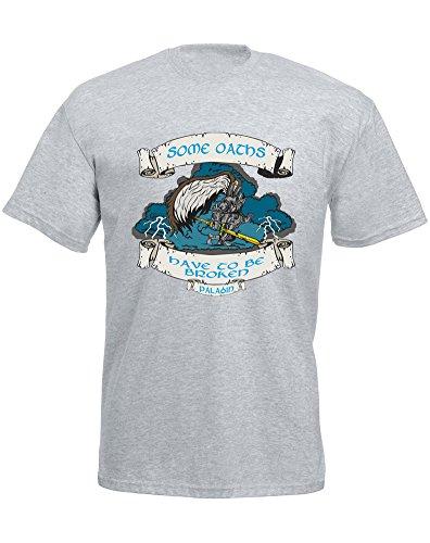 Oath Breaker, Mann Gedruckt T-Shirt - Grau/Transfer L = 104-109 cm (Transfer Breaker)