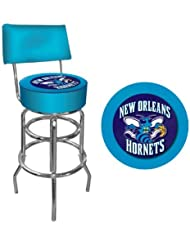 NBA New Orleans Hornets Padded Swivel Bar Stool with Back by Trademark Games