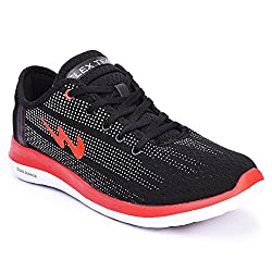 Campus BATTLE X-10 Black and Red Running Shoes (7)