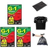 G 1 Oxo Biodegradable Garbage Bags - 19X21 | 3 Packs of 30 Pcs - 90 Pcs | Black Medium Disposable Dustbin Bags