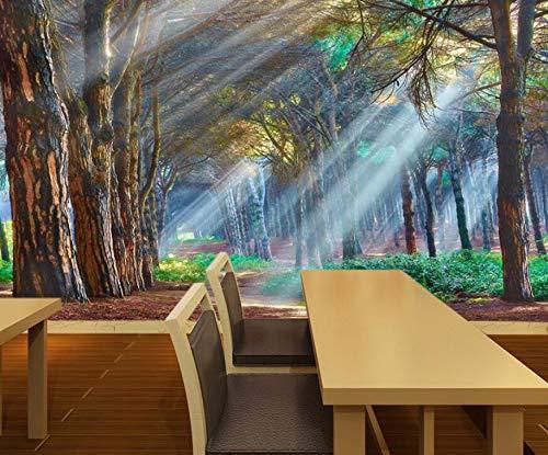 3d dreidimensionale natur wald landschaft tapete TV hintergrundbild schlafzimmer wohnzimmer video wand nahtlose wandbild 200 cm * 140 cm