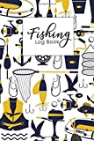 Fishing Log Book: Fishing Journal For Fisherman Records Details of Fishing Trip, Including Species, Girth, Weight, Length, Date, Time, Location, Weather, Water, Tide and Moon Phases