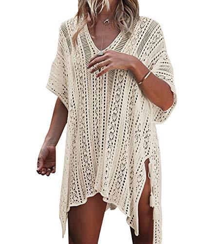 e98190e52d97 Copricostume Uncinetto Donna Mare Pareo Costume da Bagno Abito Spiaggia  Caftano da Abiti Mare Copri Costumi