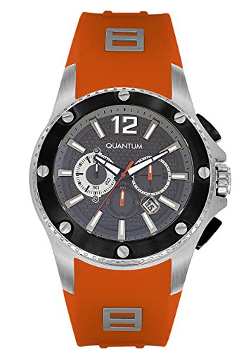QUANTUM Herren-Armbanduhr Hunter Chronograph Quarz Silikon HNG388.360
