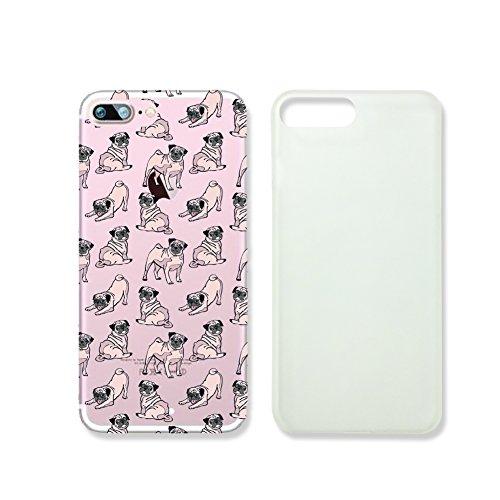 Süßer Mops Hund Muster Transparent Kunststoff Case Handy Cover für iPhone 66S supertrampshop, VAS627.7plsl