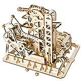 BOROK Robotime 3D-Holzpuzzle Spieluhr Spiel Holz bausatz Wasserrad-Untersetzerform Modellbau Kinder und Erwachsene