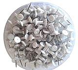 Reißzwecke mit Kunststoff-Kopf von Sharry, Nadel aus Stahl, farbenfrohe Reißzwecke, 200 Stück pro Container weiß