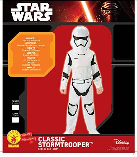 Imagen de rubie's star wars  disfraz de storm trooper para niños, color blanco/ negro, talla 7  8 años l  alternativa