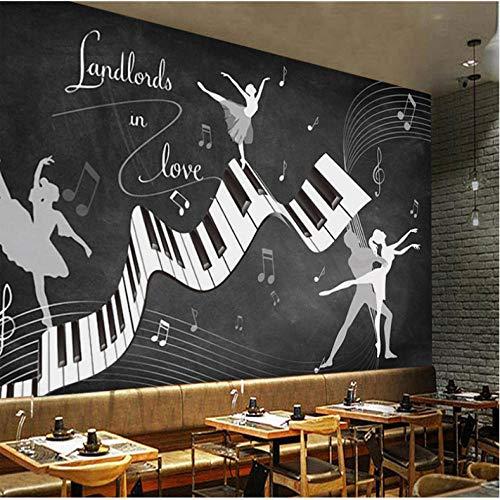 Benutzerdefinierte Fototapete Retro Vintage Ballett Kostüm 3D Wand Wohnzimmer Sofa TV Hintergrund Wand Wasserdichte Fresko 3D Tapeten 300 cm (B) x 200 cm (H) (Macht Ballett Kostüm)