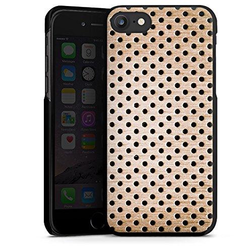 Apple iPhone X Silikon Hülle Case Schutzhülle Bronze Lochblech Metall Hard Case schwarz