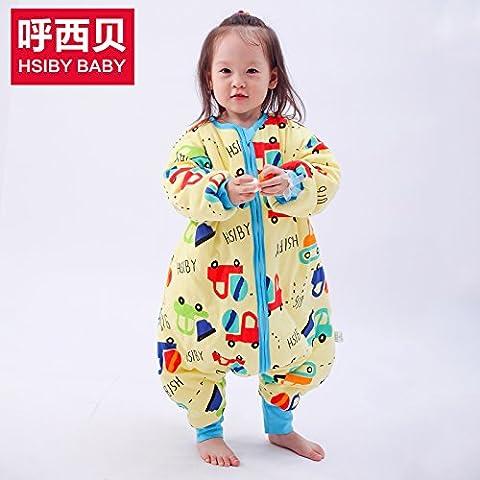 Calcio alla gamba di bambino sacco a pelo in cotone a prova di bambino era il sacco a pelo invernale per età: 6 mesi-7 anni