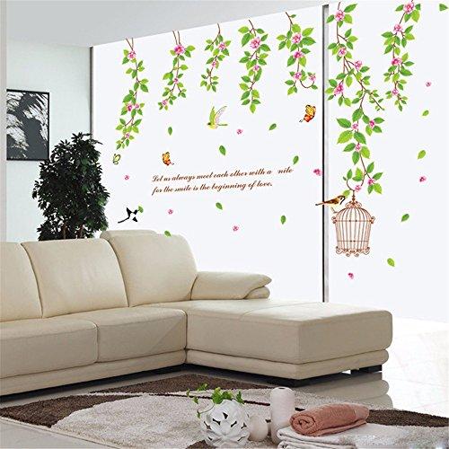 jaysk-wasserdichte-wande-aufkleber-frische-grune-blatter-home-poster-aufkleber-60-cm-90-cm-eine-sing