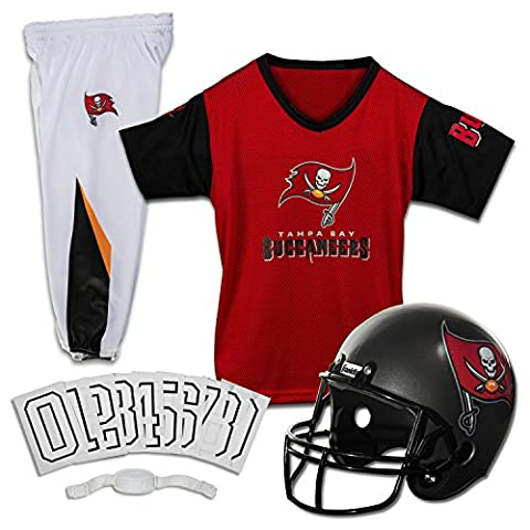 Tampa Bay Buccaneers Youth NFL Deluxe Helmet and Uniform Set