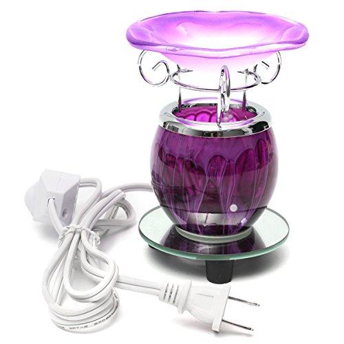 DADEQISH Purpurrotes elektrisches duftendes Öl-Wärmer-Lampen-Wachs mit Birnen-Brenner-Duft-Lampen-Diffusor Innenlicht - öl-brenner Elektrische
