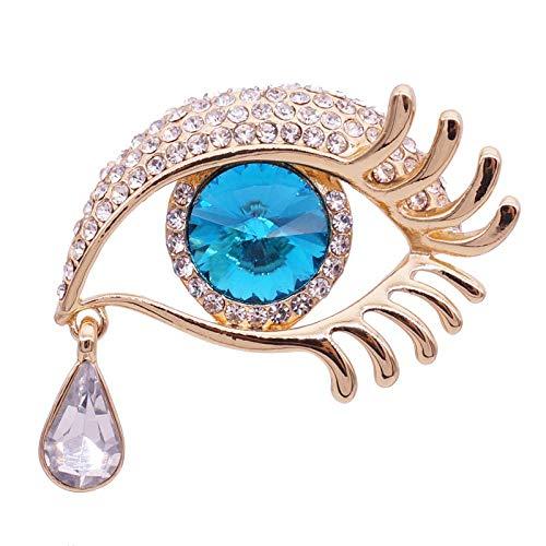 SZNYD Angel's Tears Brosche Damen Light Luxury Eyes Crystal Teardrop Messing Pins -