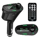 Car Kit MP3 Player Wireless FM Transmitter Modulator USB SD MMC LCD With Remote (Green light)