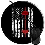 XFQJX Tappetino per Mouse Gaming Mouse Pad Bilanciere di Sollevamento Pesi Bandiera Americana Fitness Base Antiscivolo in Gomma Trattato 2T930