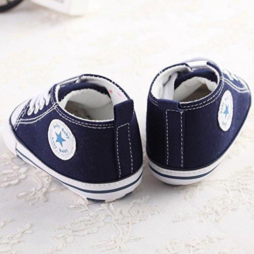 Süßer Segeltuch-Baby-Turnschuh-rutschfeste weiche nette Trainer-Schuhe 0-18M Blau