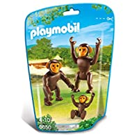 Playmobil 6650 City Life Zoo Chimpanzee Family(Multi-color)