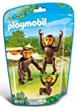 Playmobil 6650 City Life Zoo Chimpanzee Family(Multi Color)