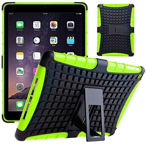 Cover Ipad Shockproof Mini (G-Shield Apple iPad Mini 1/2/3 Hülle Silikon mit Ständer Stoßfest Schutzhülle Dünn Tasche Hybrid Armor Cover Case Etui Tablethülle mit Displayschutzfolie und Stylus - Grün)