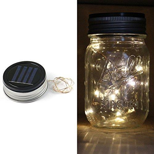 (Expower 3er Pack Solar Gläser Deckel Licht Solarwelt LED blinkende Licht Warmweiß für Standard Einmachglas)