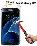 Protezione dello schermo in vetro temprato della galassia S7, pellicola protettiva in cristallo di Kimpson per la durezza Samsung Galaxy S7,9H, bolla libera, caso simpatico [3-Pack]