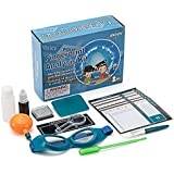 Swift Kids' Detective Fingerprinting Kit, Includes Miniature Magnifying Glass, Ink Pad, Fingerprint Powder, Suspect Profile Cards, and More