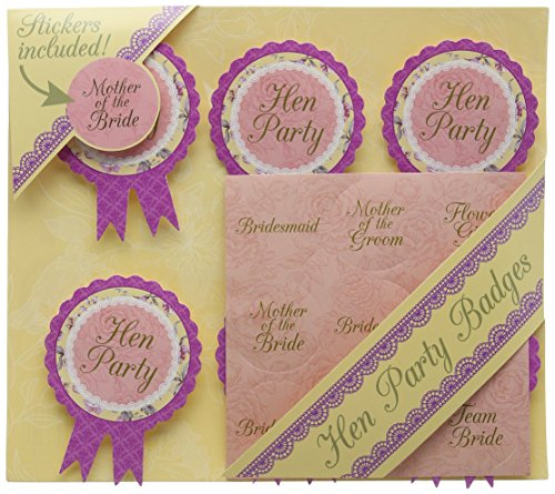Talking Tables Truly Scrumptious Hen Party Badges - 6 Badges and 9 Sticker Set