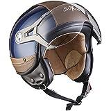 SOXON SP-325-URBAN Creme · Moto motocicleta Cruiser Scooter Biker Urban Mofa Piloto Vintage Casco Demi-Jet Chopper Vespa Helmet Retro Bobber Urbano · ECE certificado · diseño de cuero · visera incluido · incluyendo bolsa de casco · Beige · L (59-60cm)
