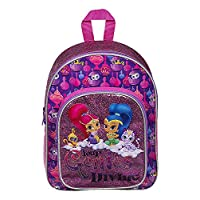 SHIMMER SHINE GIRLS GLITTER GIRLS KIDS BACKPACK WITH POCKET RUCKSACK SCHOOL HOLIDAY TRIP BAG, Small, Purple