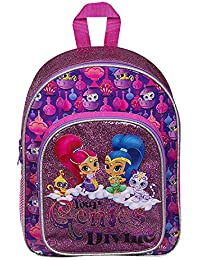 403ea2b29a5 SHIMMER SHINE GIRLS GLITTER GIRLS KIDS BACKPACK WITH POCKET RUCKSACK SCHOOL  HOLIDAY TRIP BAG